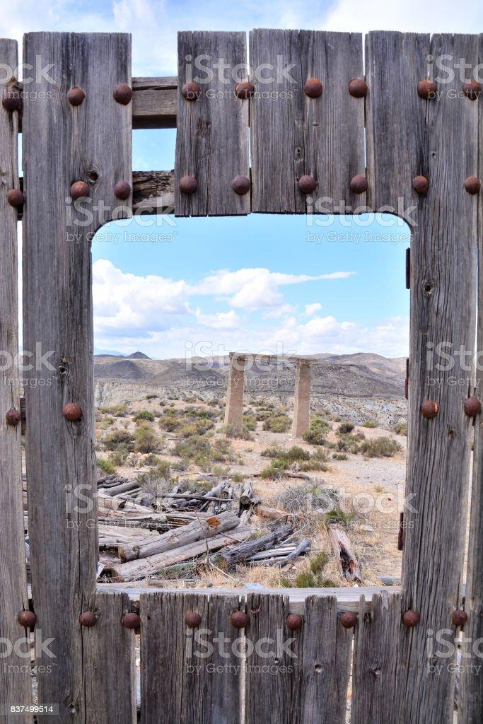 Desert Tabernas in Almeria Province Spain stock photo