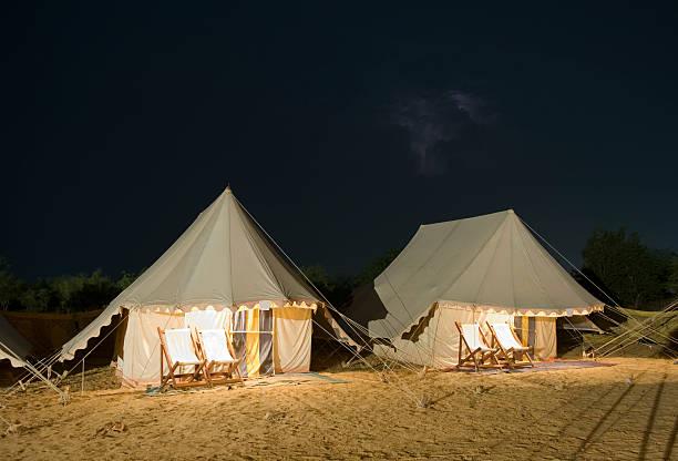 Desert Tents stock photo