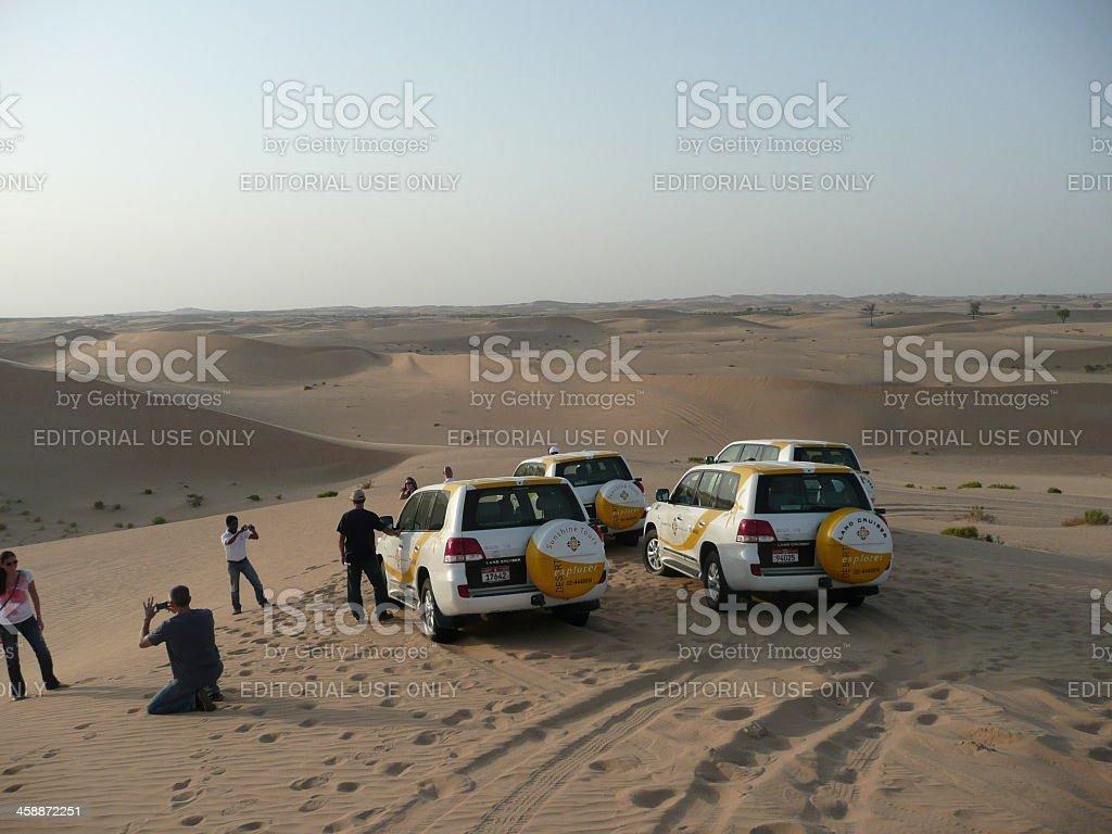 desert tour with land cruiser in abu dhabi royalty-free stock photo