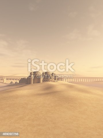 istock Desert Town Swallowed by the Sand 469092256
