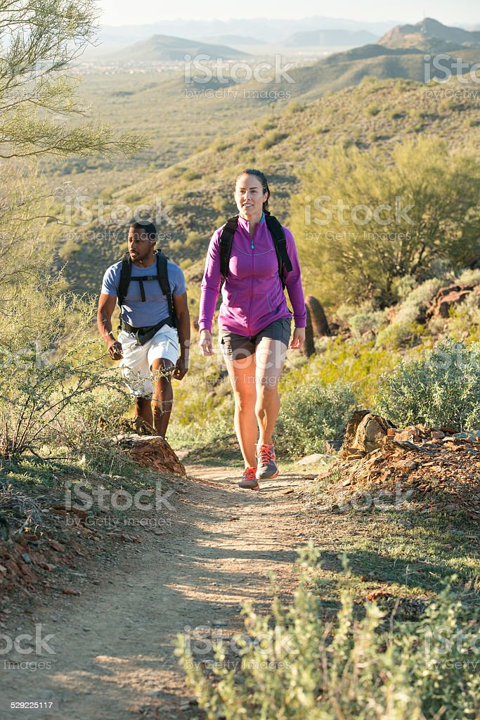 Desert Trail Hike stock photo
