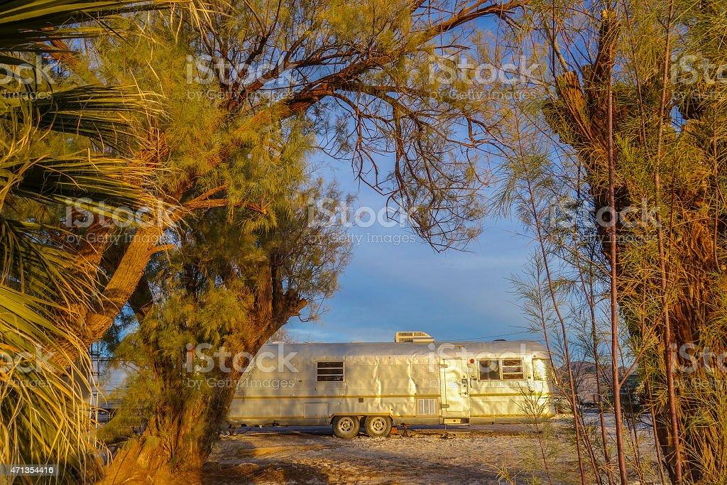 Desert Trailer stock photo