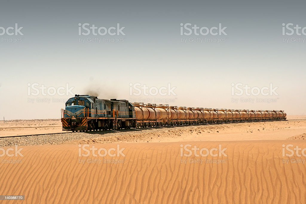 Desert Train stock photo