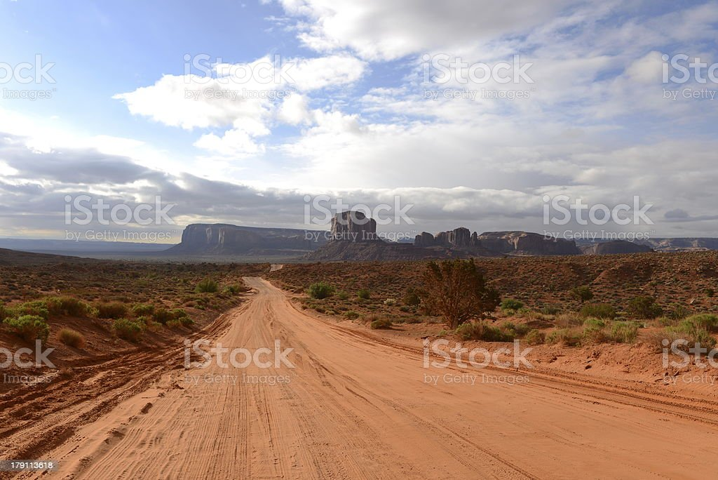 Desert Valley Road royalty-free stock photo