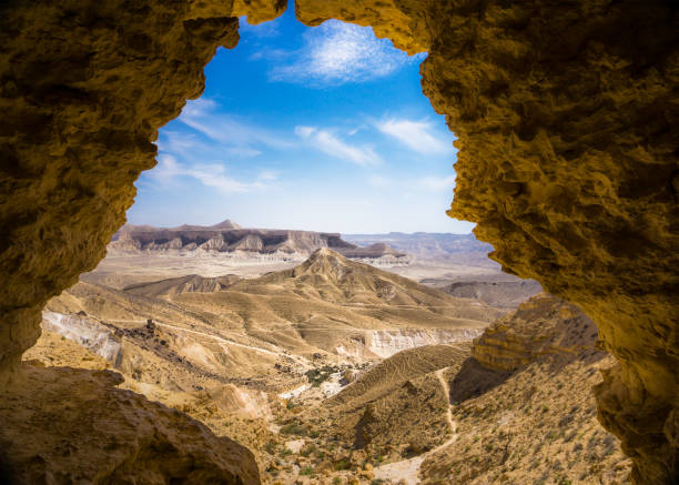 A desert view from a cave. Negev, Israel A desert view from a cave. Negev, Israel negev stock pictures, royalty-free photos & images