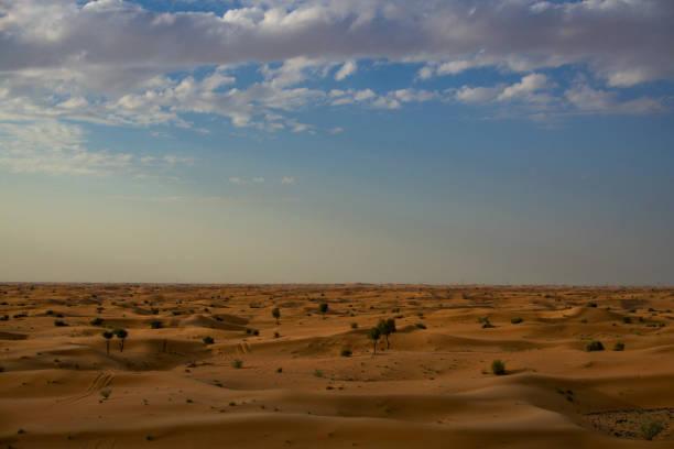 Ansicht der Wüste in dubai – Foto
