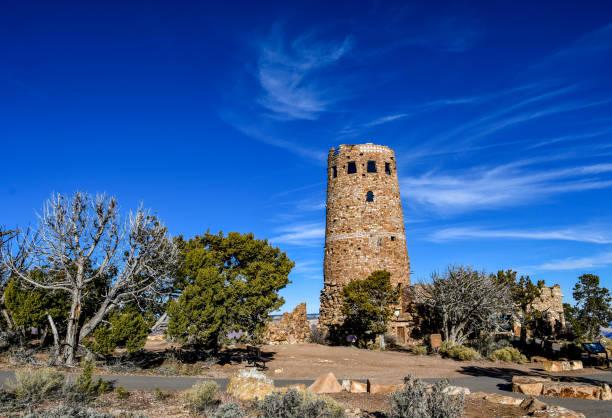 Desert view Watchtower, Grand Canyon stock photo
