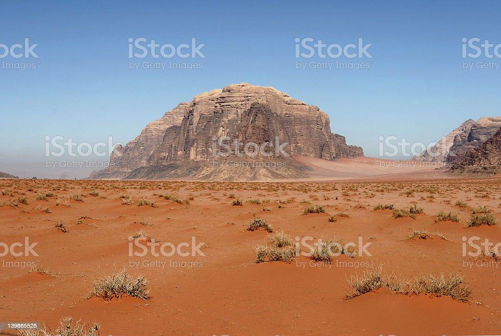 Desert Wadi Rum royalty-free stock photo
