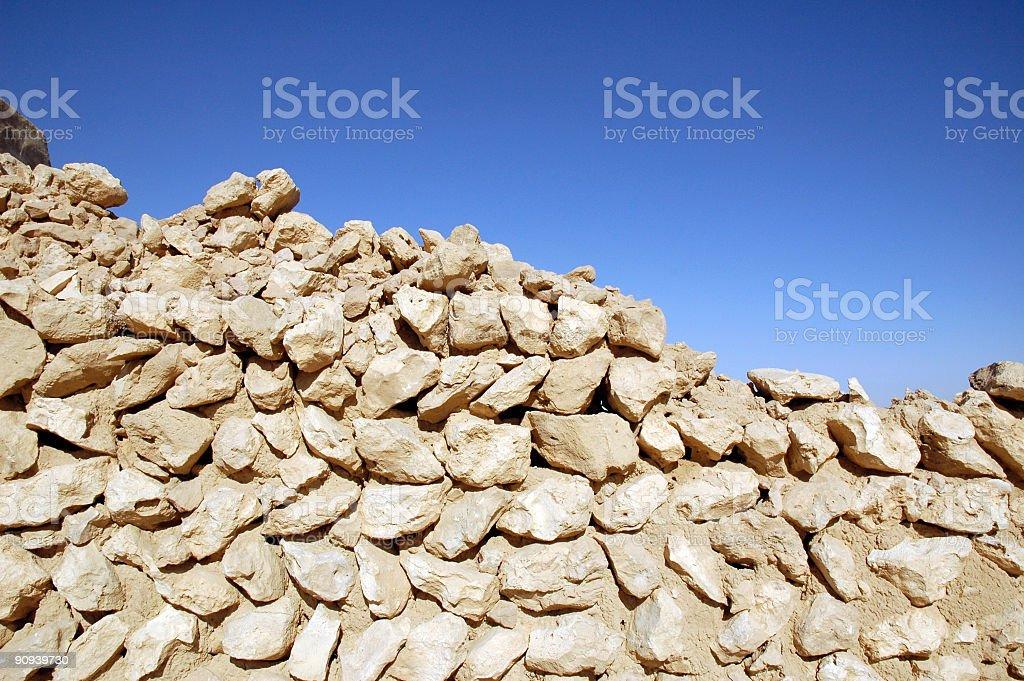 Desert Wall Ruins royalty-free stock photo