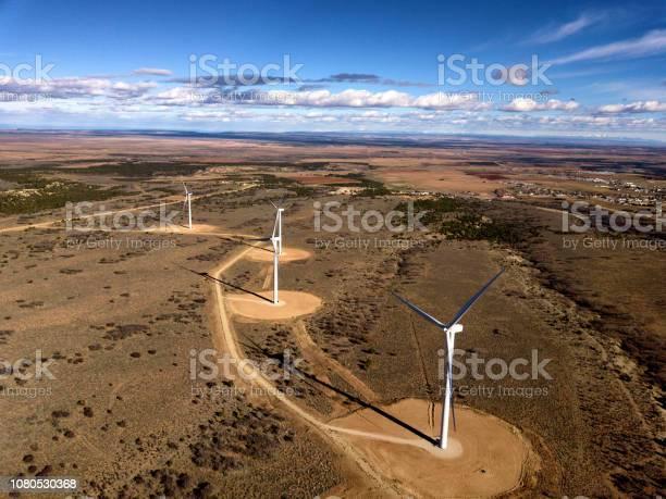 Desert Wind Turbines Stock Photo - Download Image Now