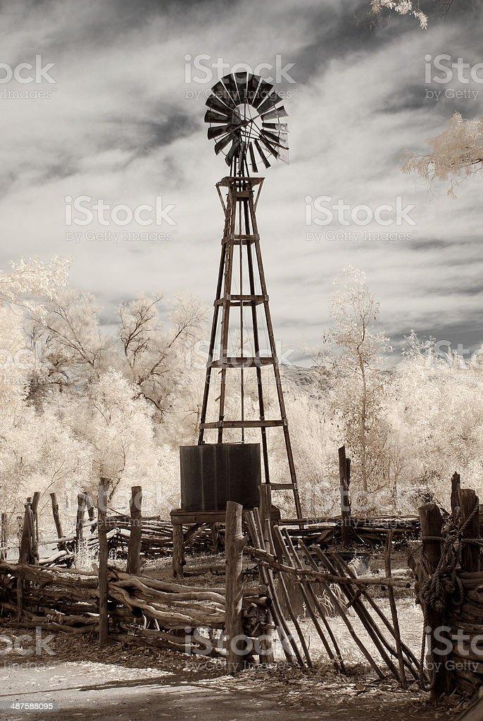 Desert Windmill royalty-free stock photo