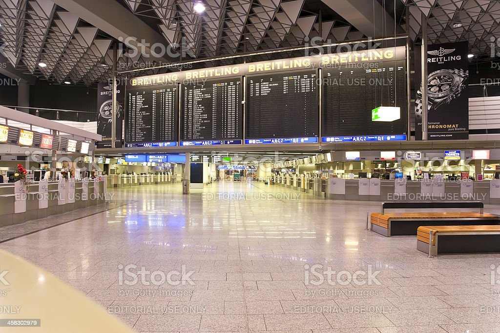 Deserted Airport Terminal royalty-free stock photo