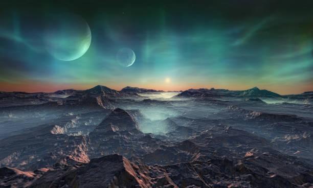 einsamen fremden planeten - landscape crazy stock-fotos und bilder