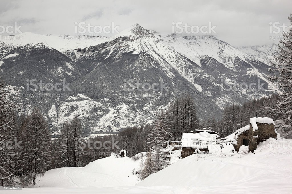 Deserted Alpine Village royalty-free stock photo