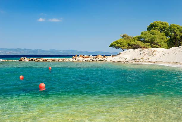 Einsamen Strand in Griechenland – Foto