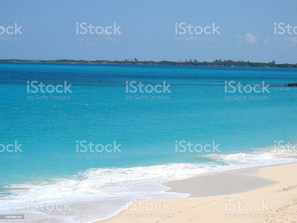 Deserted Beach royalty-free stock photo
