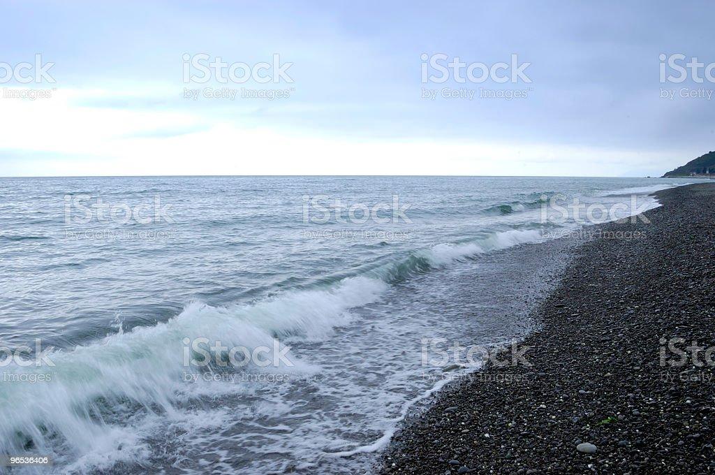 사람이 없는 해변 - 로열티 프리 0명 스톡 사진