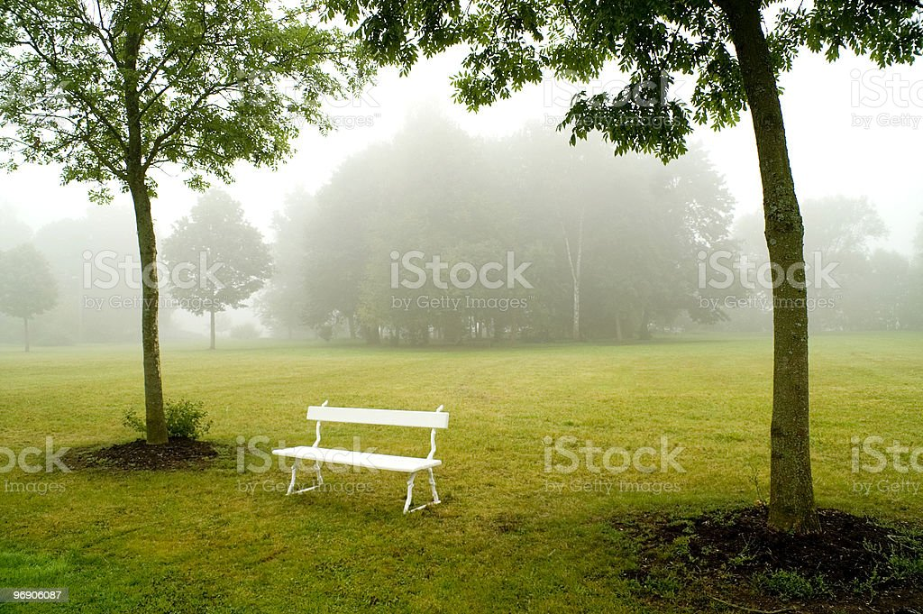 Deserted bench royalty-free stock photo