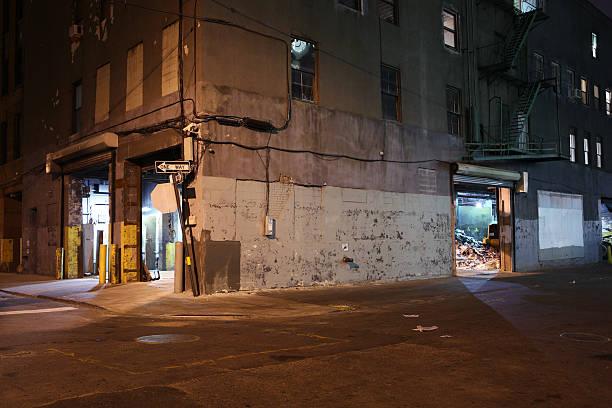 Einsames Brooklyn DUMBO der Backstreet bei Nacht – Foto