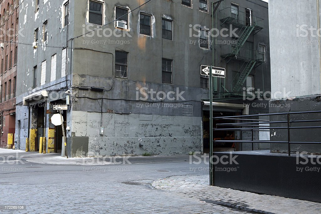 Deserted Brooklyn DUMBO Backstreet royalty-free stock photo