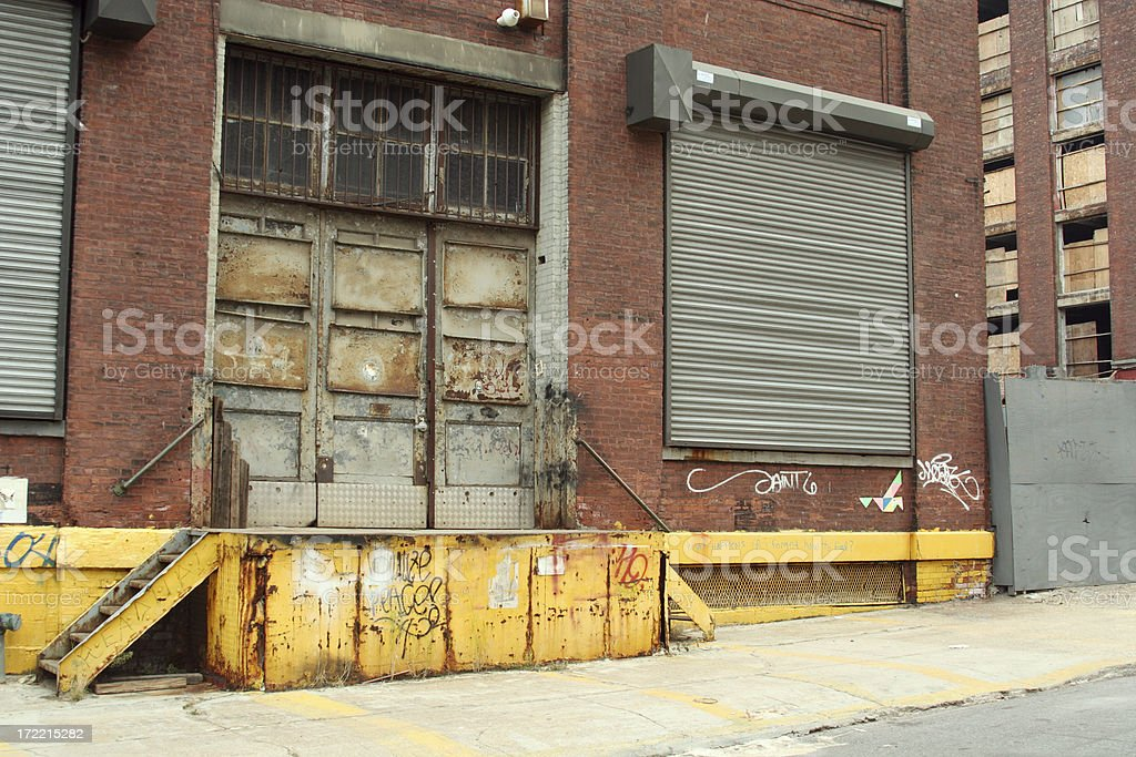 Deserted Brooklyn DUMBO Backstreet Warehouses royalty-free stock photo