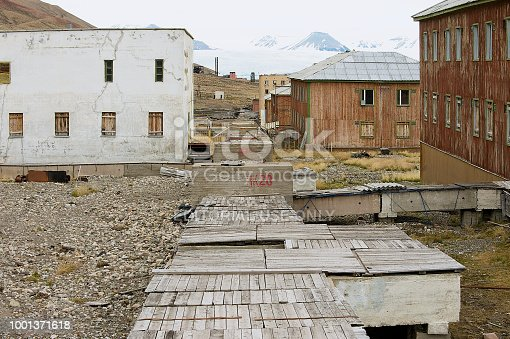 Deserted Building At The Abandoned Russian Arctic Settlement