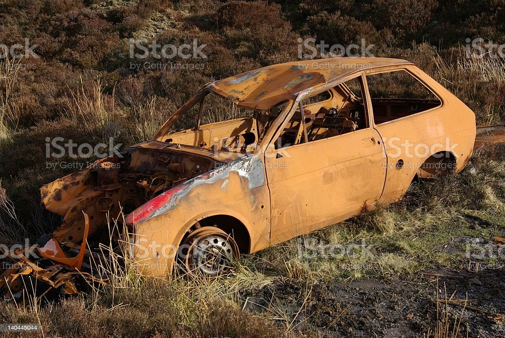Deserted Car 1 royalty-free stock photo