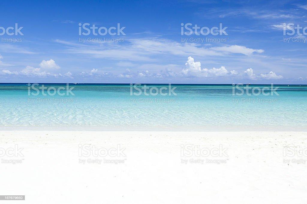 Deserted Caribbean Beach stock photo