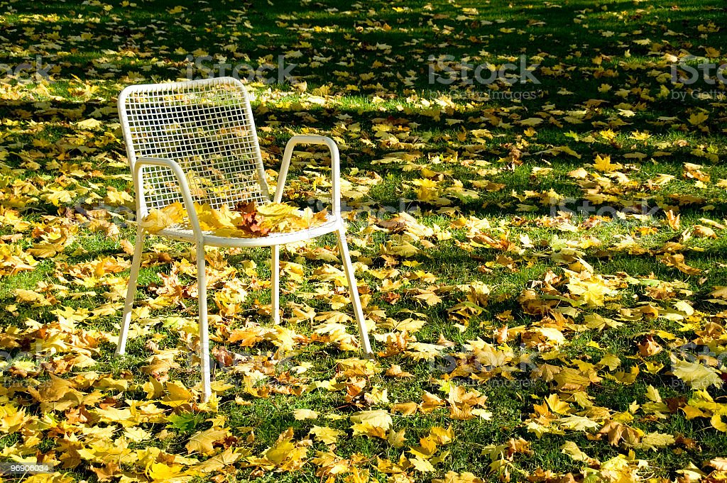 Deserted chair royalty-free stock photo