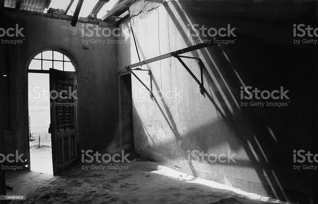 Deserted desert house royalty-free stock photo