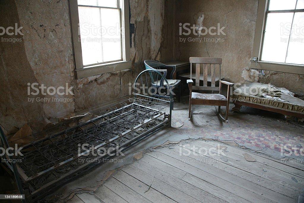 Deserted Empty Room stock photo