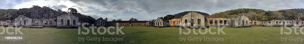 deserted garden of ruins royalty-free stock photo
