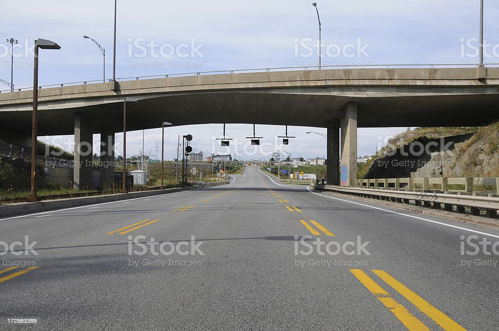 Deserted highway royalty-free stock photo