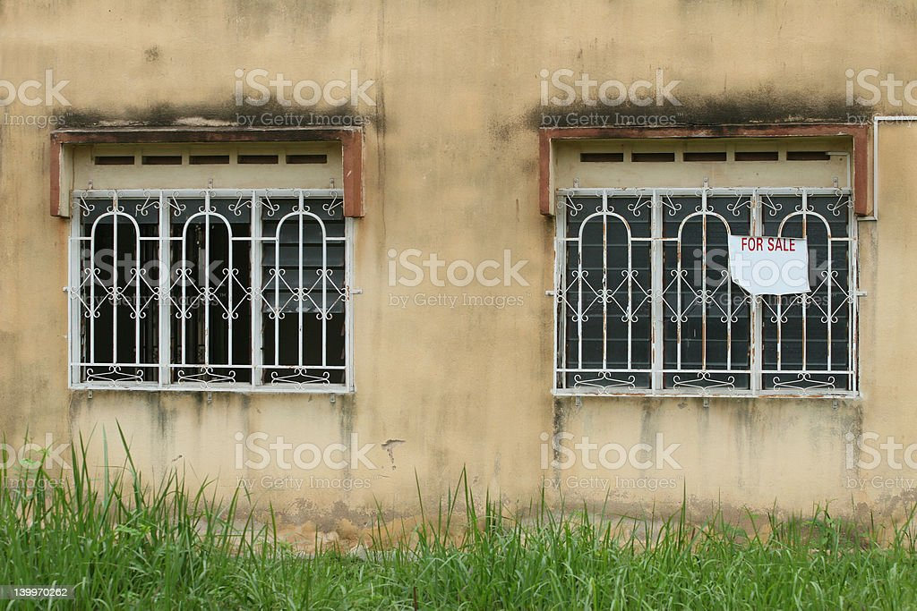 Deserted House for Sale stock photo