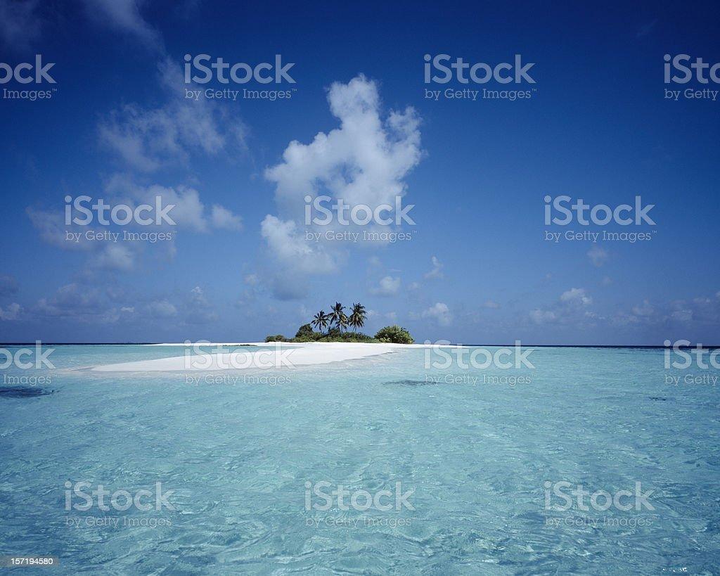 Deserted Island, Maldives royalty-free stock photo