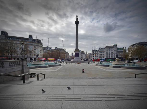 Deserted London landmarks stock photo