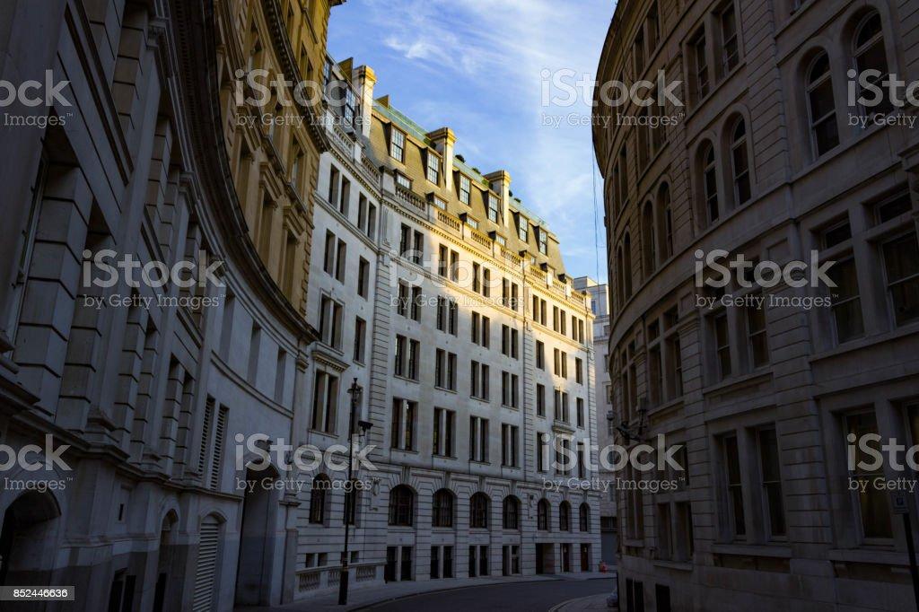A deserted London Street stock photo