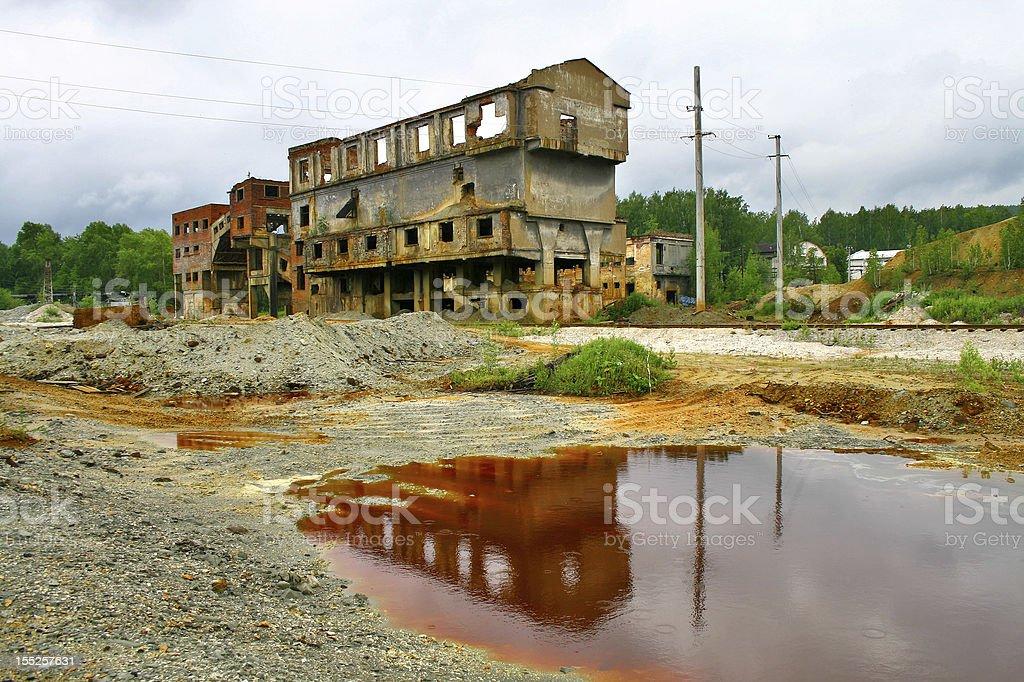 Deserted mine stock photo