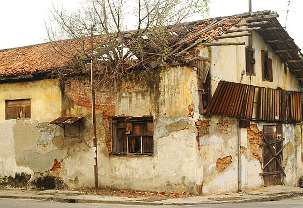 Deserted Old Colonial House stock photo