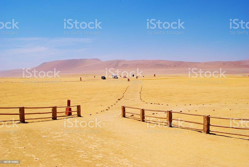 Deserted Paracas National Reserve, Peru stock photo