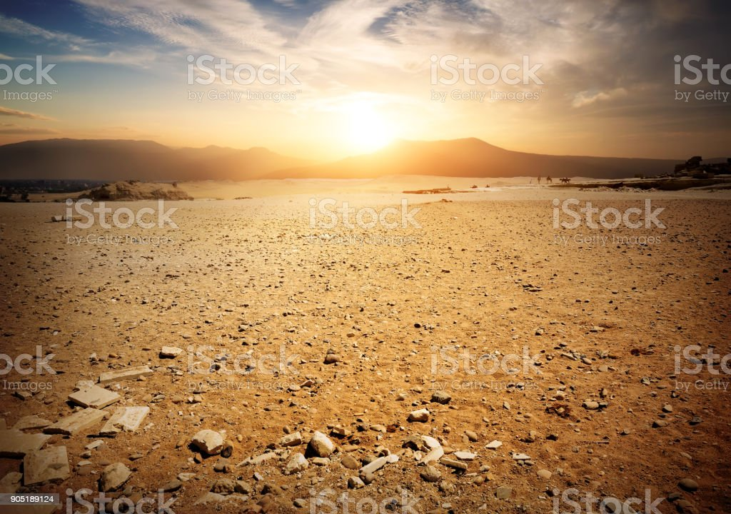 Deserted Place in Egypt royalty-free stock photo