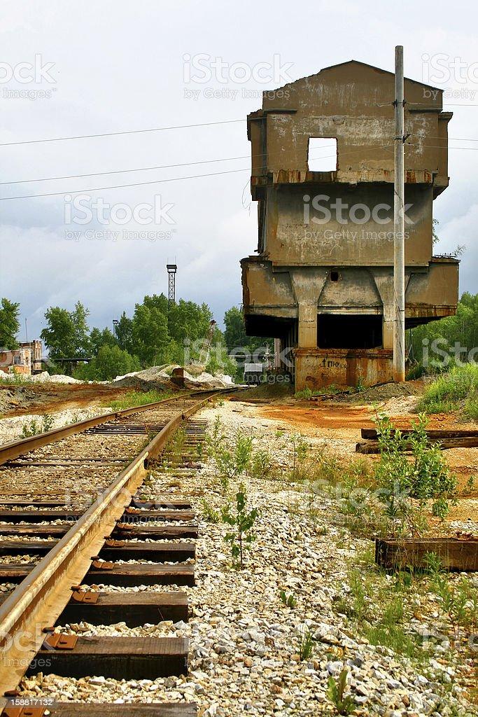 Deserted railway royalty-free stock photo
