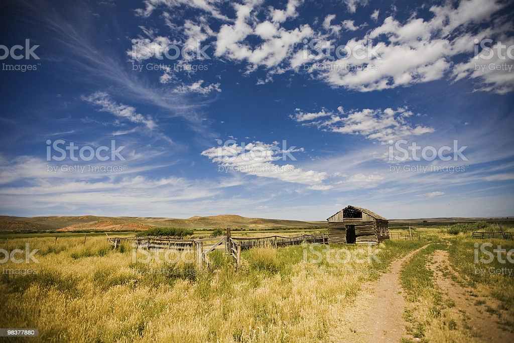 Deserted Ranch Cabin royalty-free stock photo