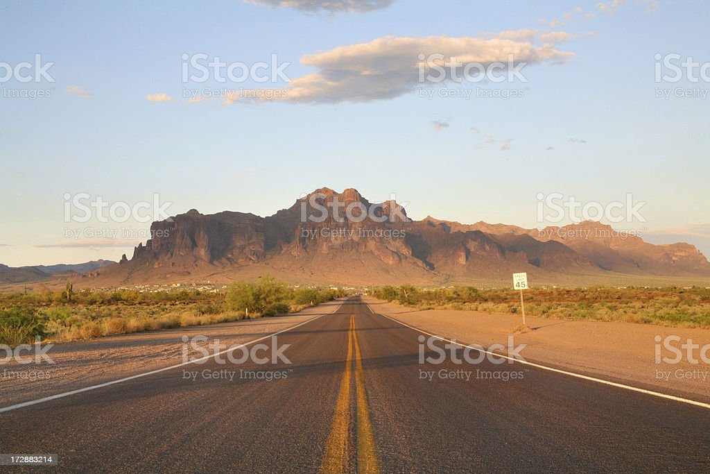 Deserted road royalty-free stock photo