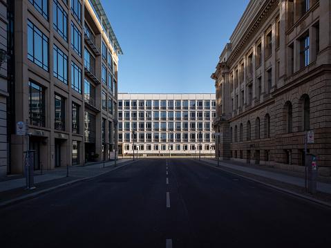deserted street in Berlin