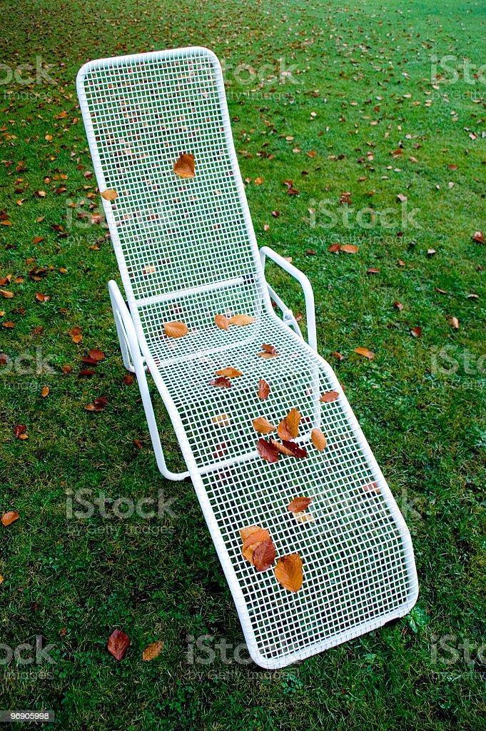 Deserted sun lounger royalty-free stock photo