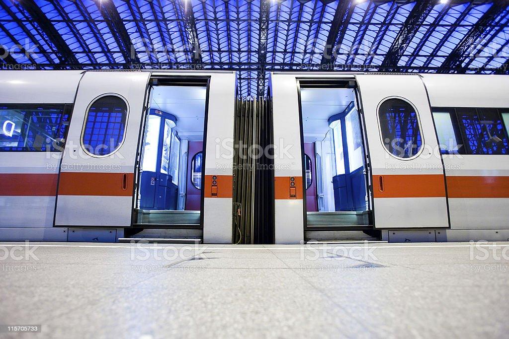 deserted train royalty-free stock photo