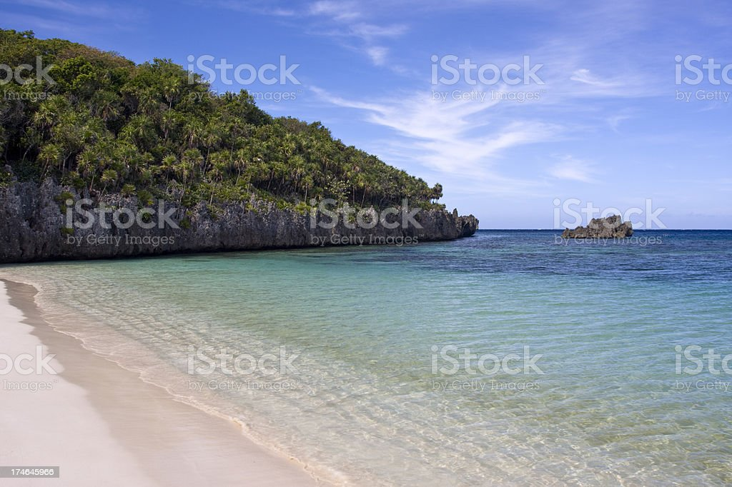 Deserted Tropical Beach stock photo