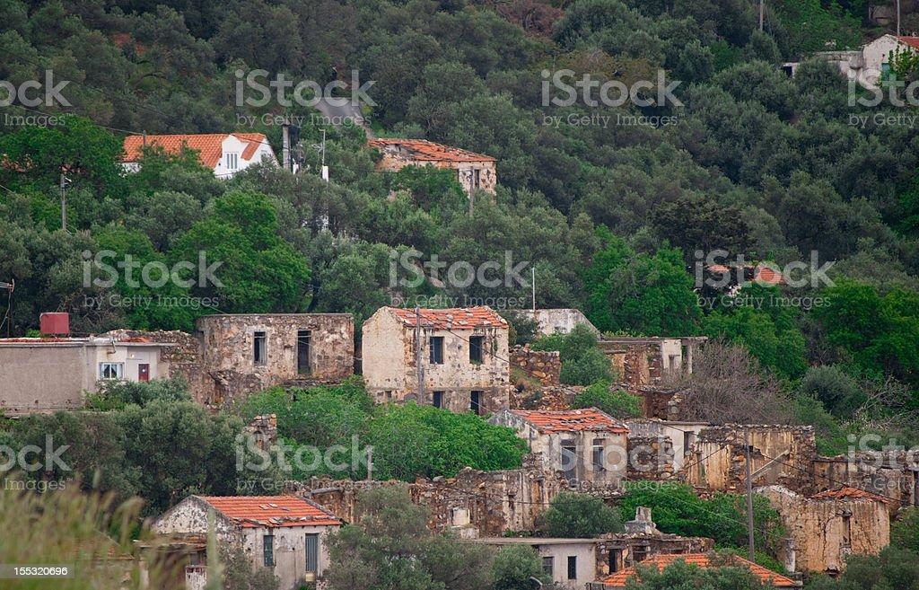 Deserted village stock photo