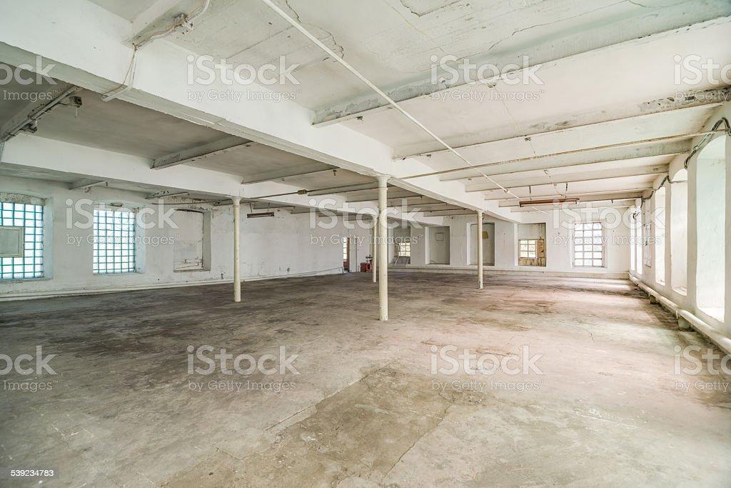 Deserted warehouse royalty-free stock photo